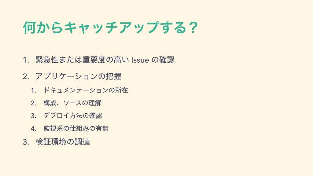 Կ͔ΒΩϟονΞοϓ͢Δʁ 1. ۓٸੑ·ͨॏཁͷߴ͍ Issue ͷ֬ 2. ΞϓϦέ...