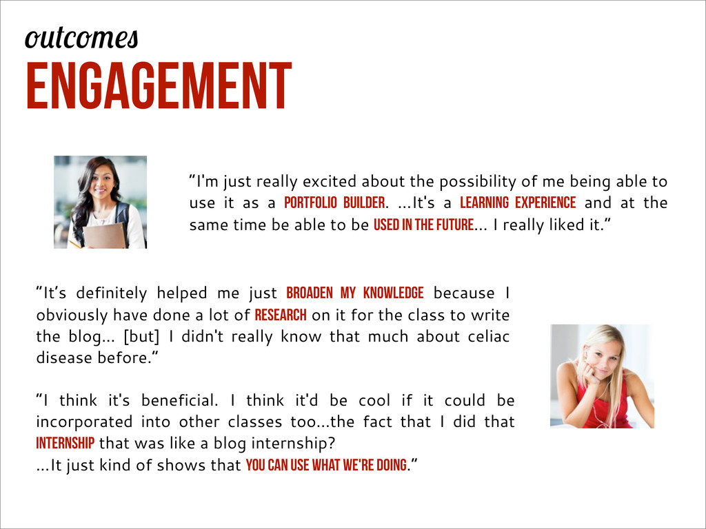 "Engagement ""It's definitely helped me just broa..."