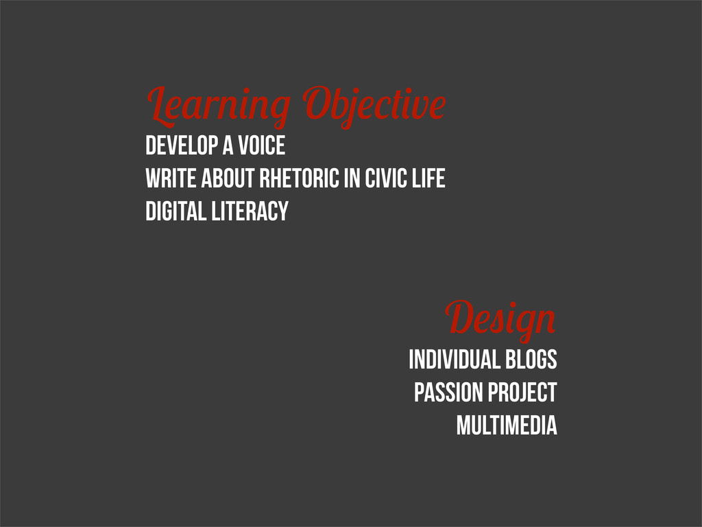 L r Ob v Develop a voice write about rhetoric i...