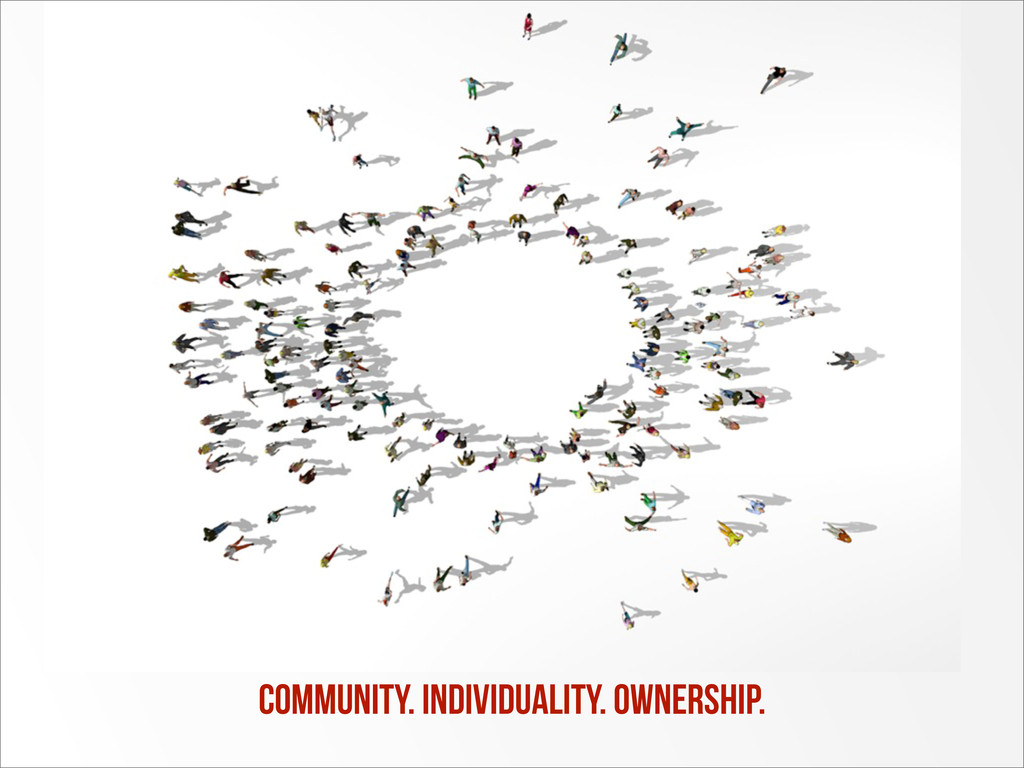 community. individuality. OWNERSHIP.