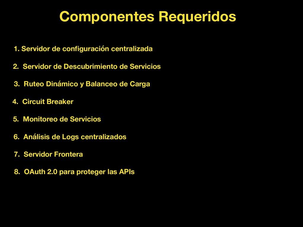 Componentes Requeridos 1. Servidor de configurac...