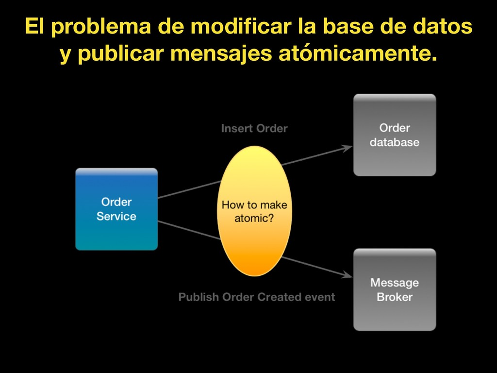 El problema de modificar la base de datos y publ...