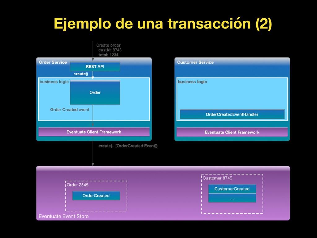 Ejemplo de una transacción (2)