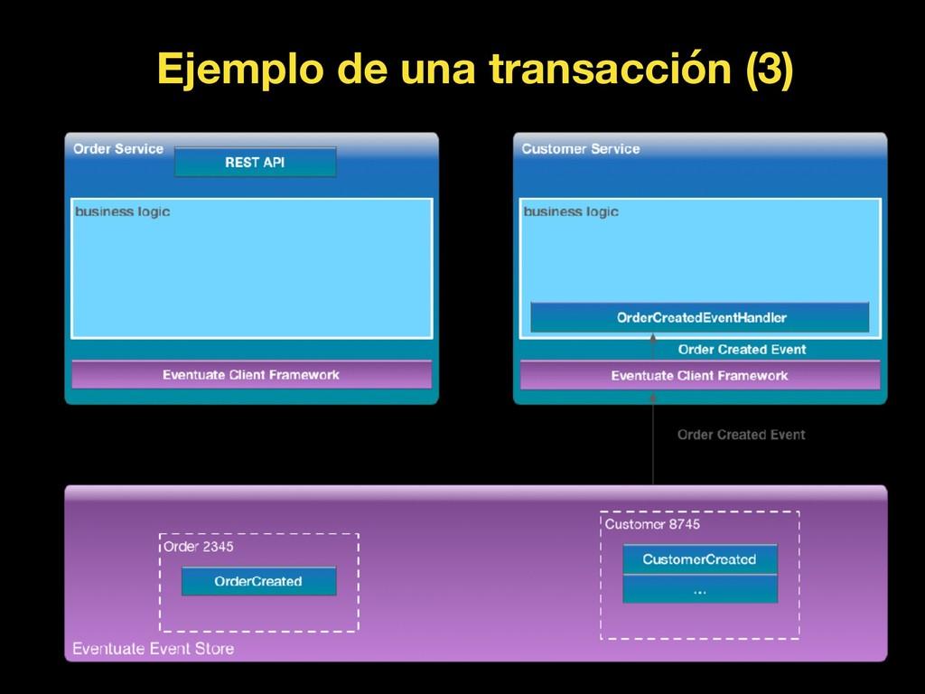 Ejemplo de una transacción (3)