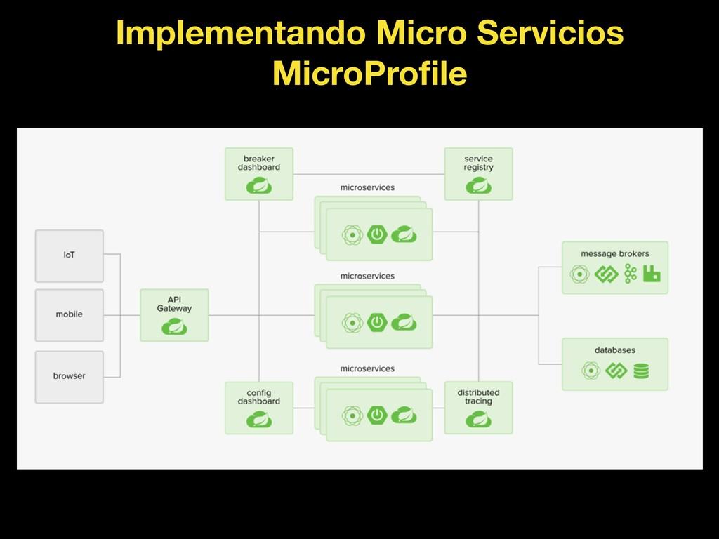 Implementando Micro Servicios MicroProfile