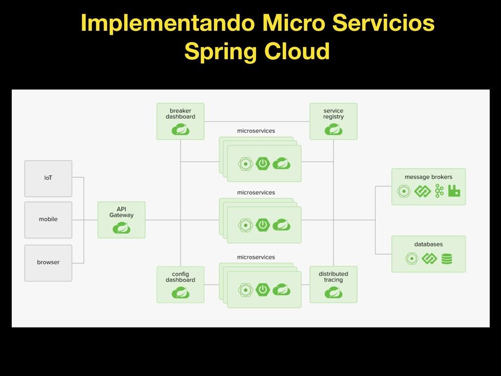 Implementando Micro Servicios Spring Cloud