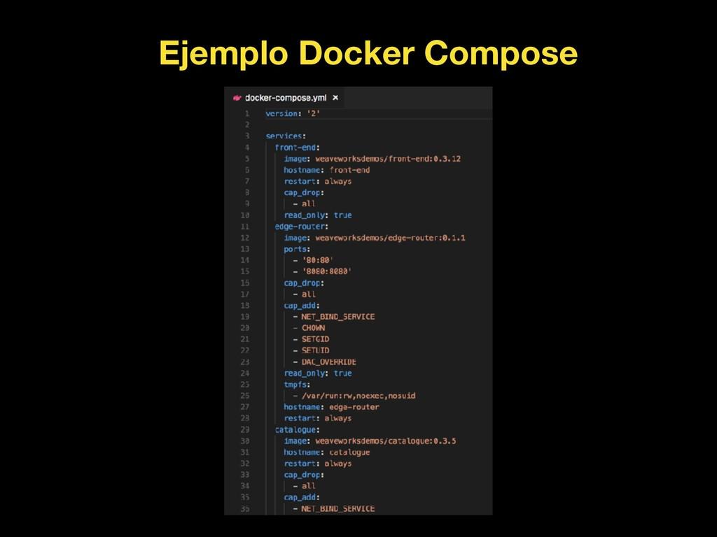 Ejemplo Docker Compose