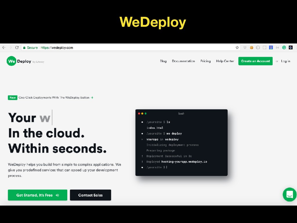 WeDeploy