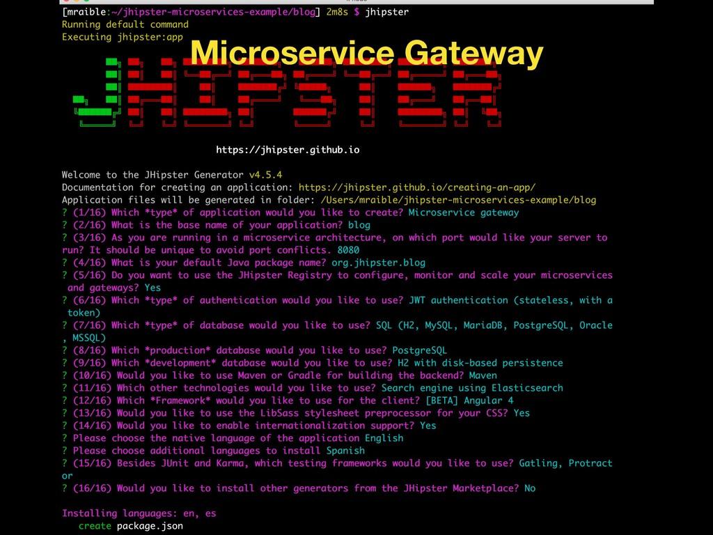 Microservice Gateway