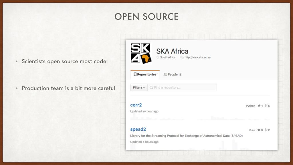 OPEN SOURCE • Scientists open source most code ...