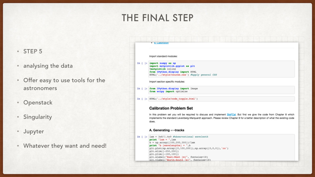 THE FINAL STEP • STEP 5 • analysing the data • ...