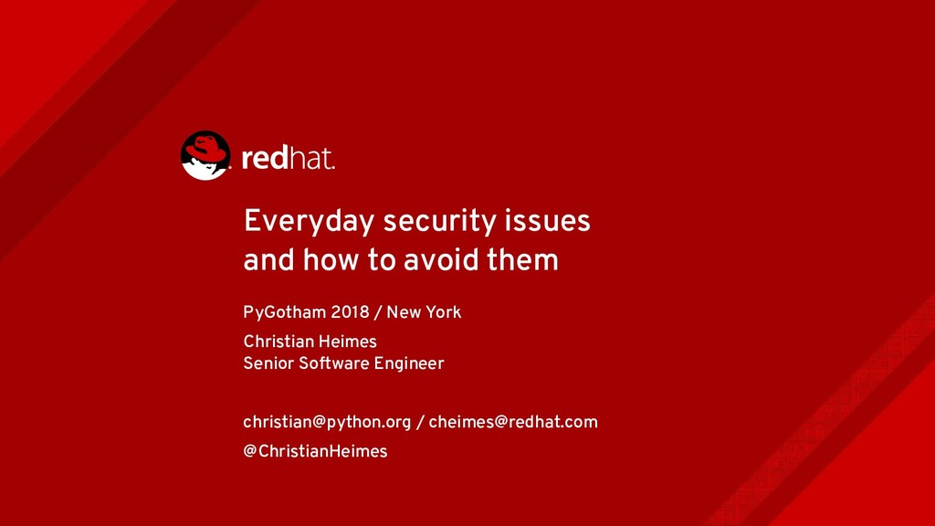 Everyday security issues and how to avoid them ...
