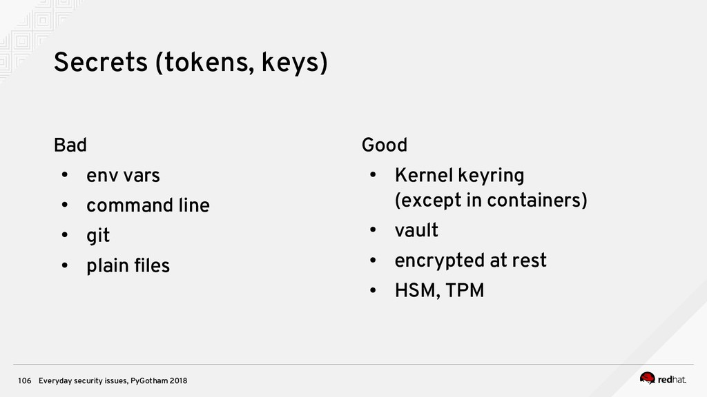 Everyday security issues, PyGotham 2018 106 Sec...