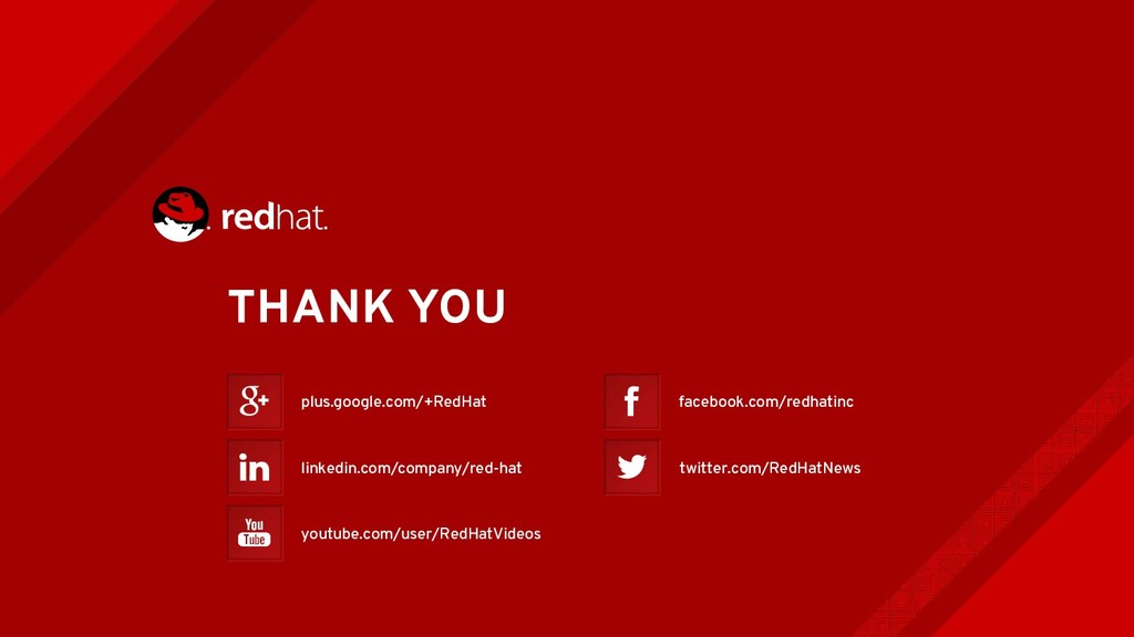 THANK YOU plus.google.com/+RedHat youtube.com/u...