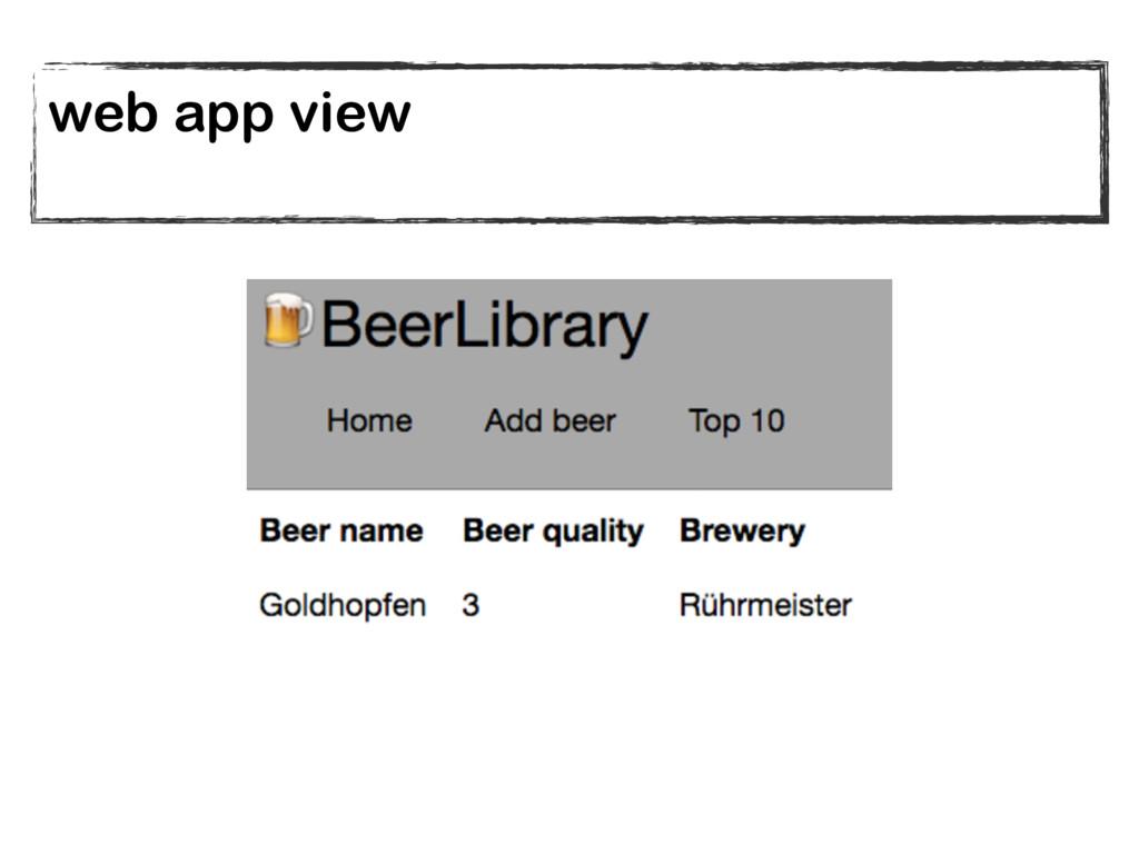 web app view