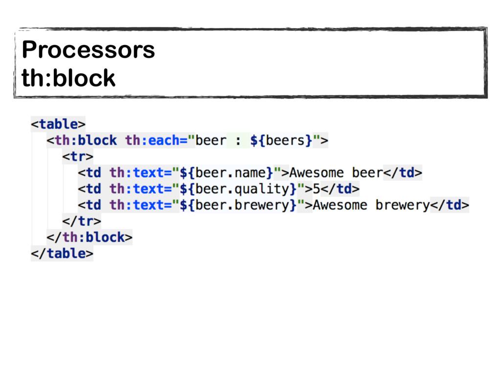 Processors th:block
