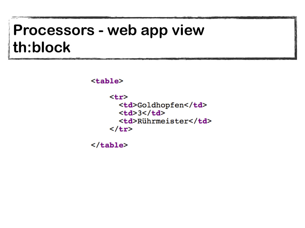 Processors - web app view th:block