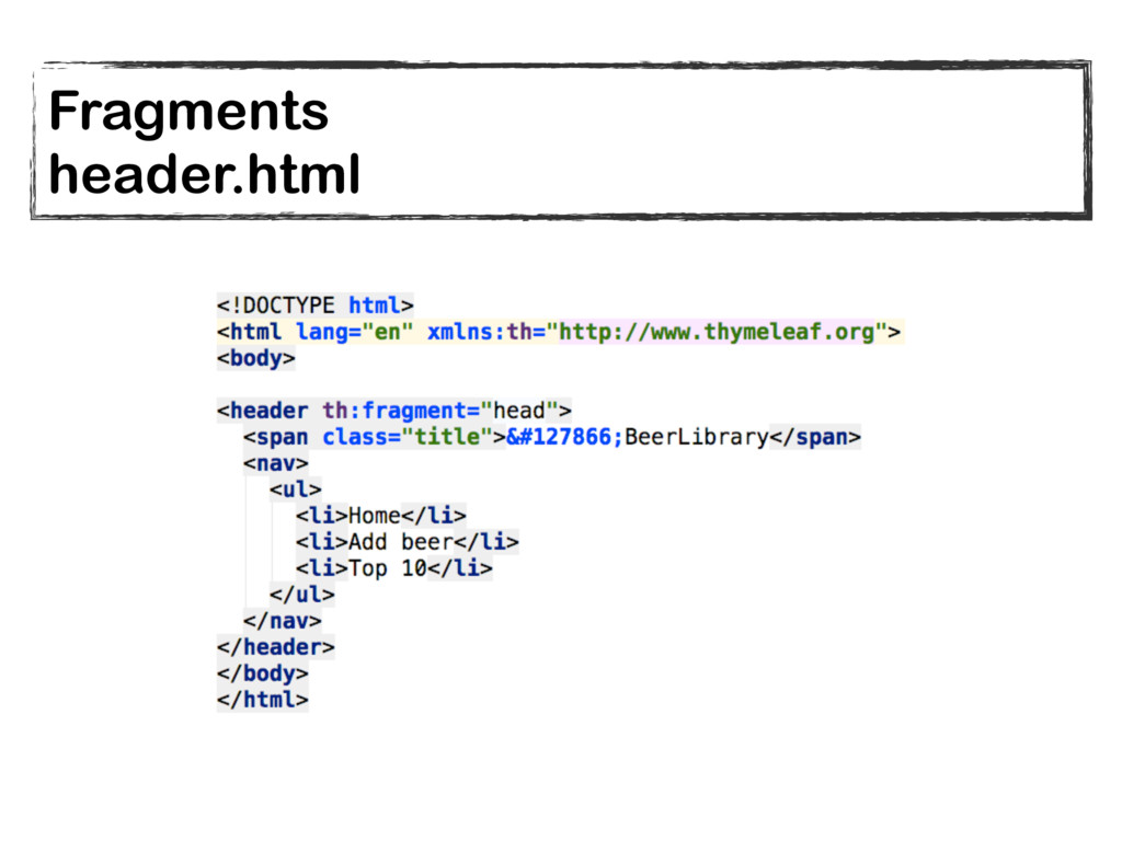 Fragments header.html