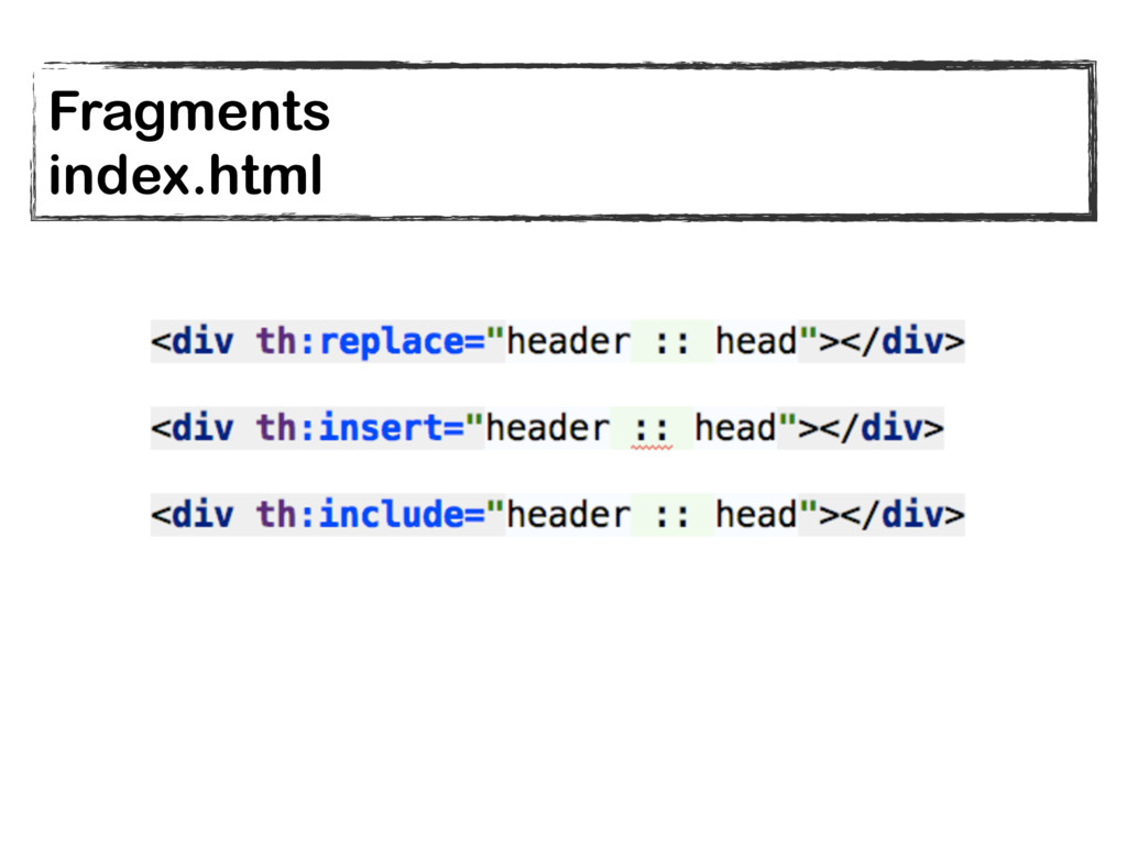 Fragments index.html