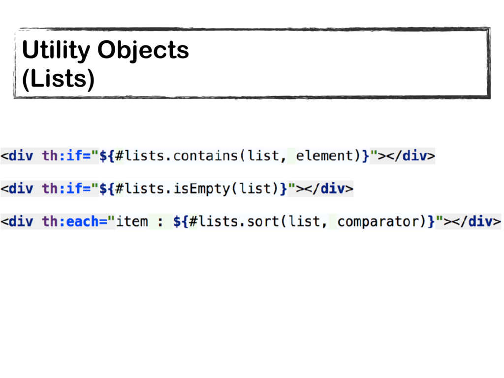 Utility Objects (Lists)