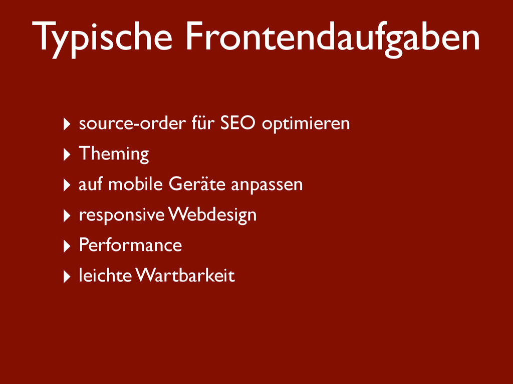 Typische Frontendaufgaben ‣ source-order für SE...