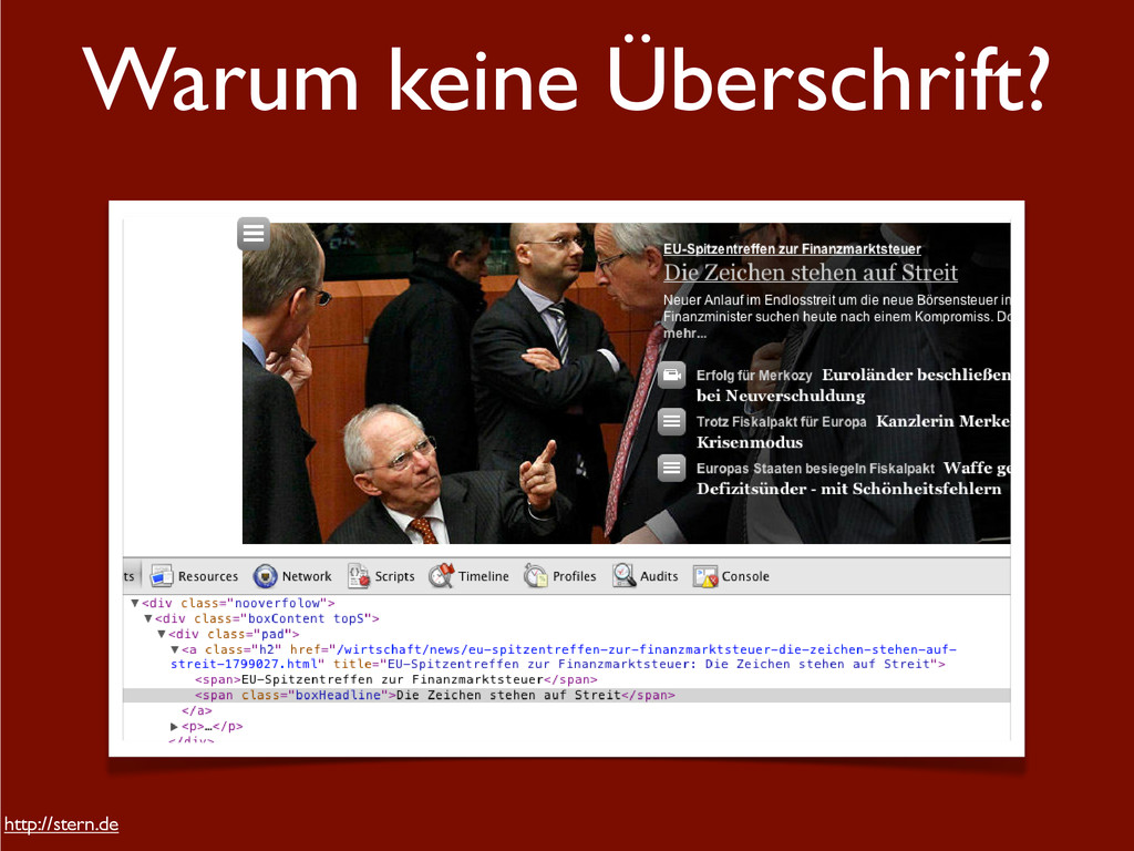 Warum keine Überschrift? http://stern.de