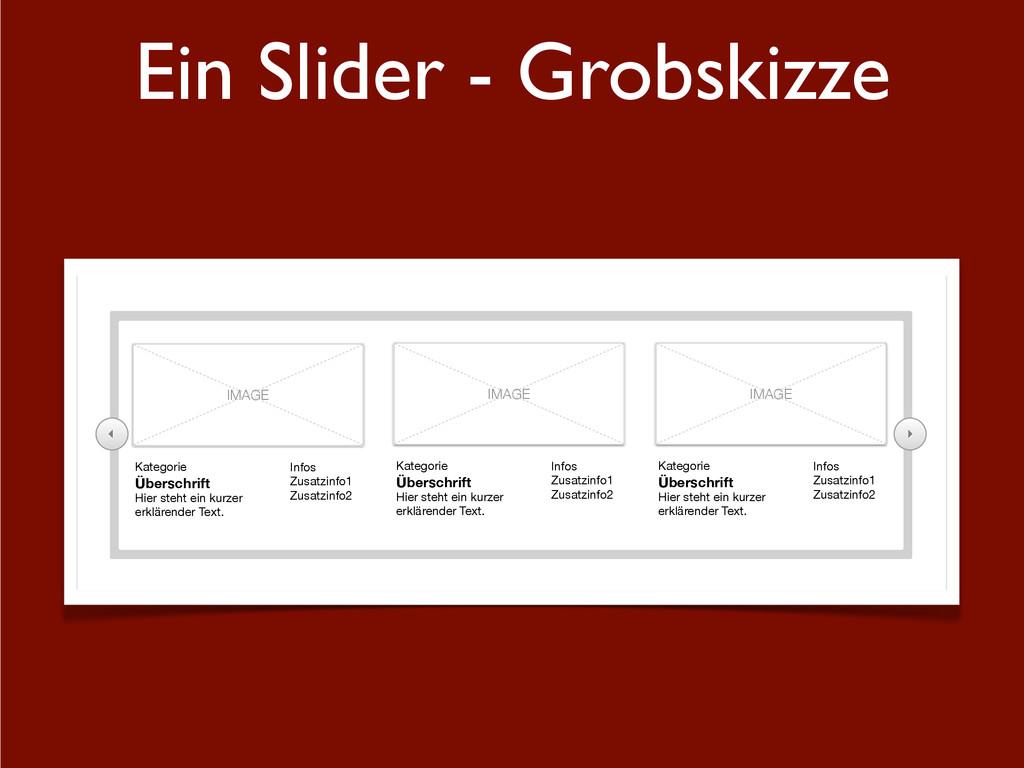 Ein Slider - Grobskizze   IMAGE Kategorie Übe...
