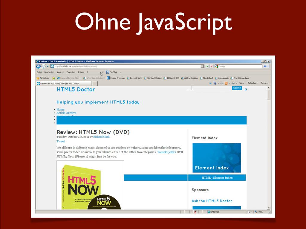 Ohne JavaScript