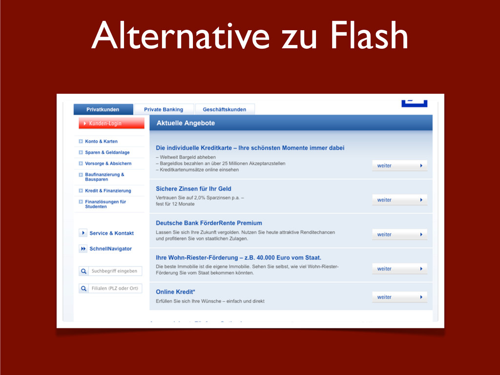 Alternative zu Flash