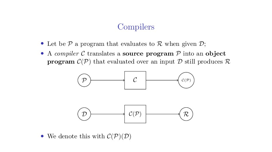 Compilers • Let be P a program that evaluates t...