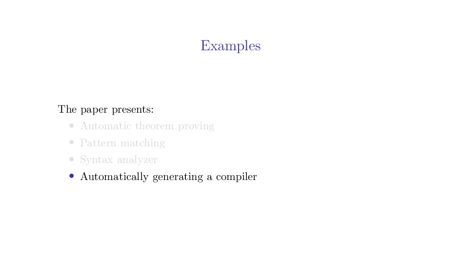 Examples The paper presents: • Automatic theore...