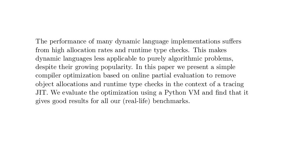 The performance of many dynamic language implem...