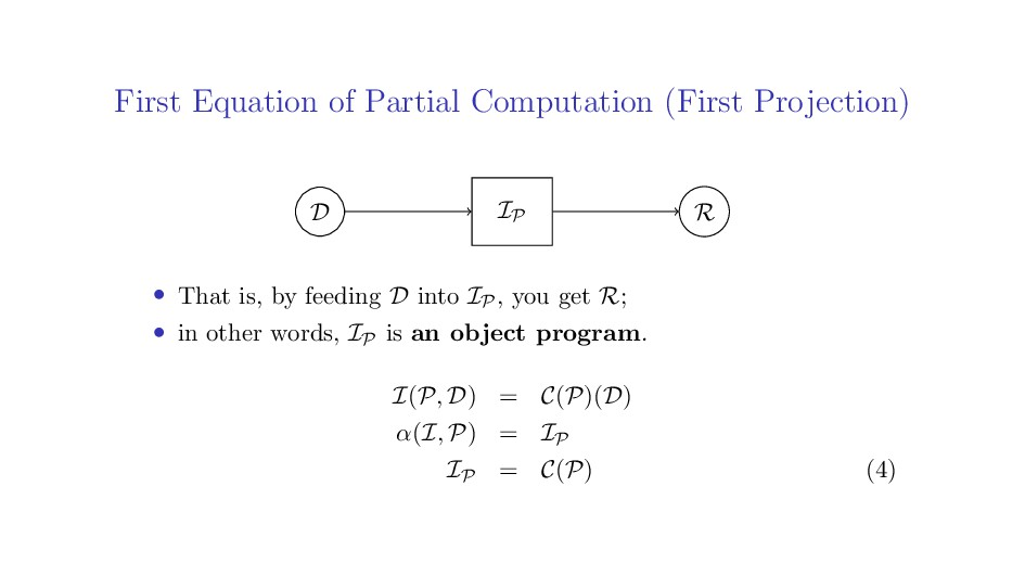 First Equation of Partial Computation (First Pr...