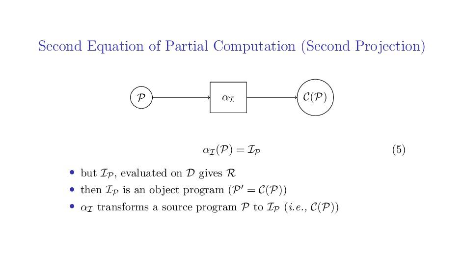 Second Equation of Partial Computation (Second ...