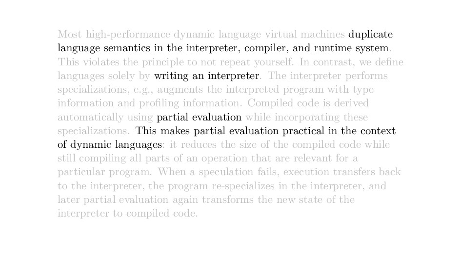 Most high-performance dynamic language virtual ...