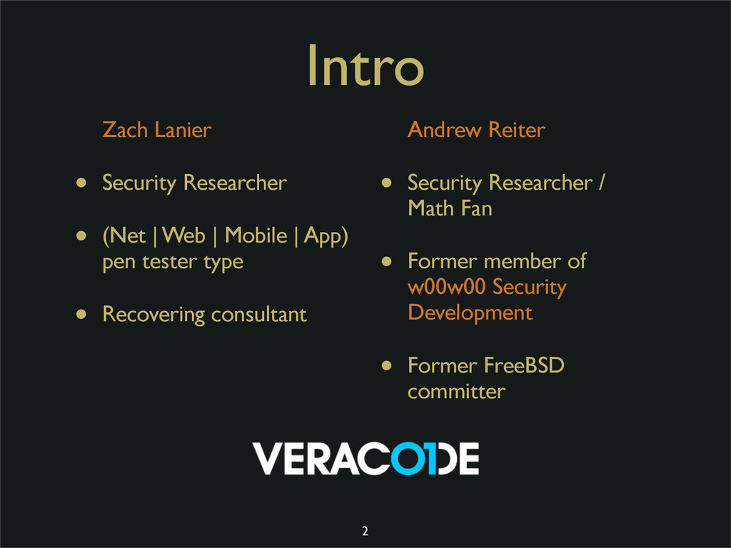 Intro Zach Lanier • Security Researcher • (Net ...