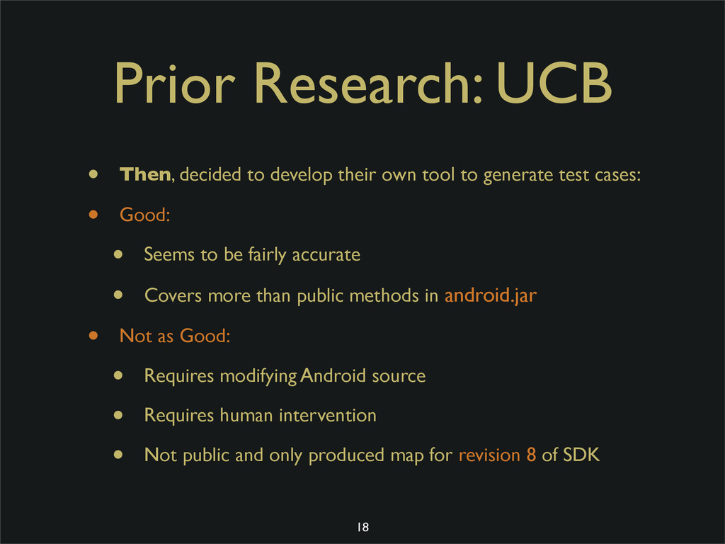 Prior Research: UCB • Then, decided to develop ...