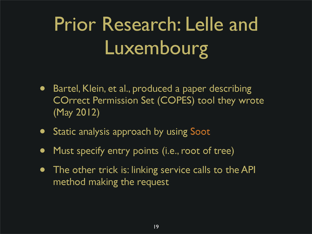 Prior Research: Lelle and Luxembourg • Bartel, ...