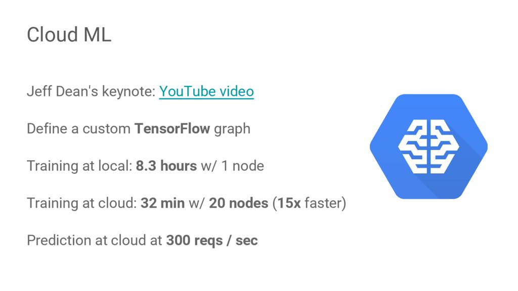 Jeff Dean's keynote: YouTube video Define a cus...