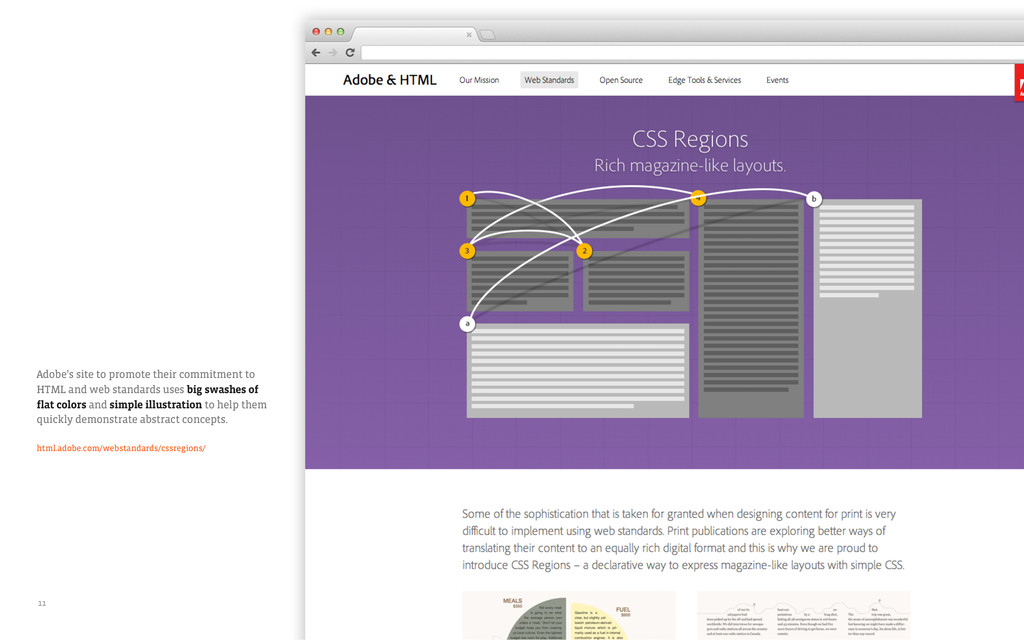 Adobe's site to promote their commitment to HTM...