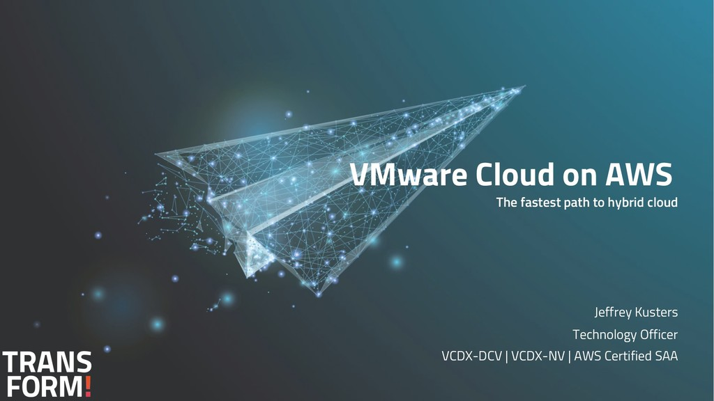 VMware Cloud on AWS The fastest path to hybrid ...