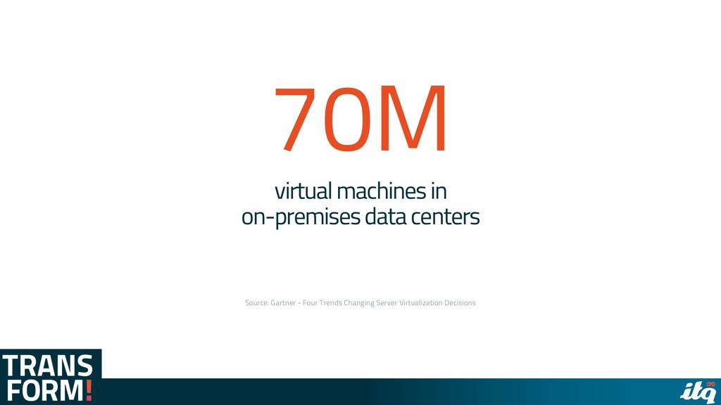 virtual machines in on-premises data centers So...