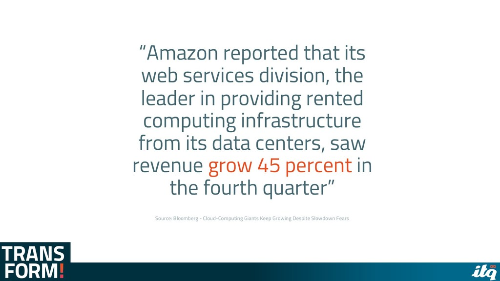 """""""Amazon reported that its web services division..."""