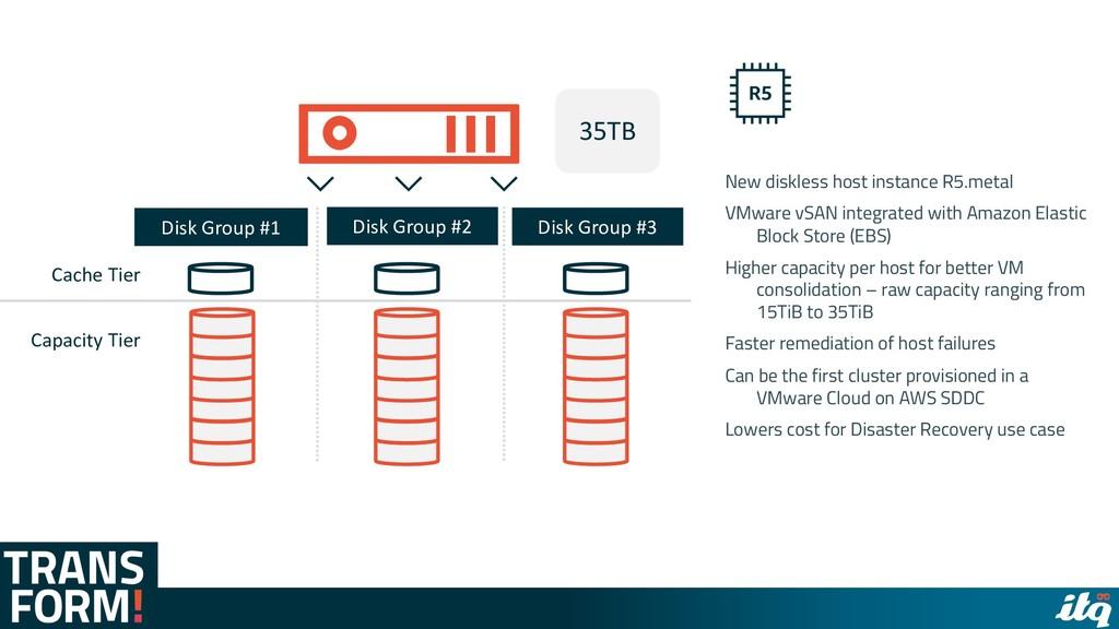 New diskless host instance R5.metal VMware vSAN...