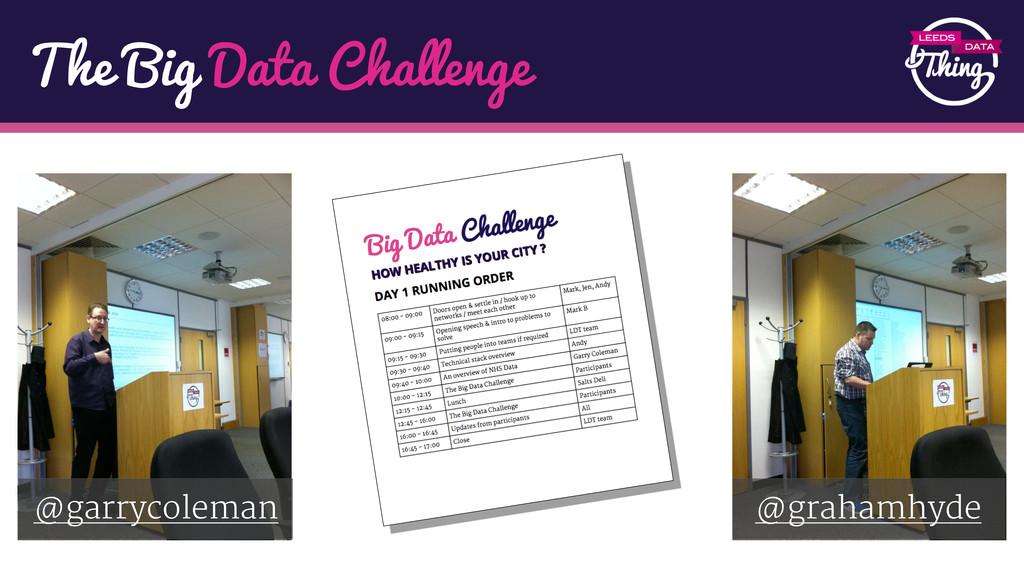 The Big Data Challenge @garrycoleman @grahamhyde