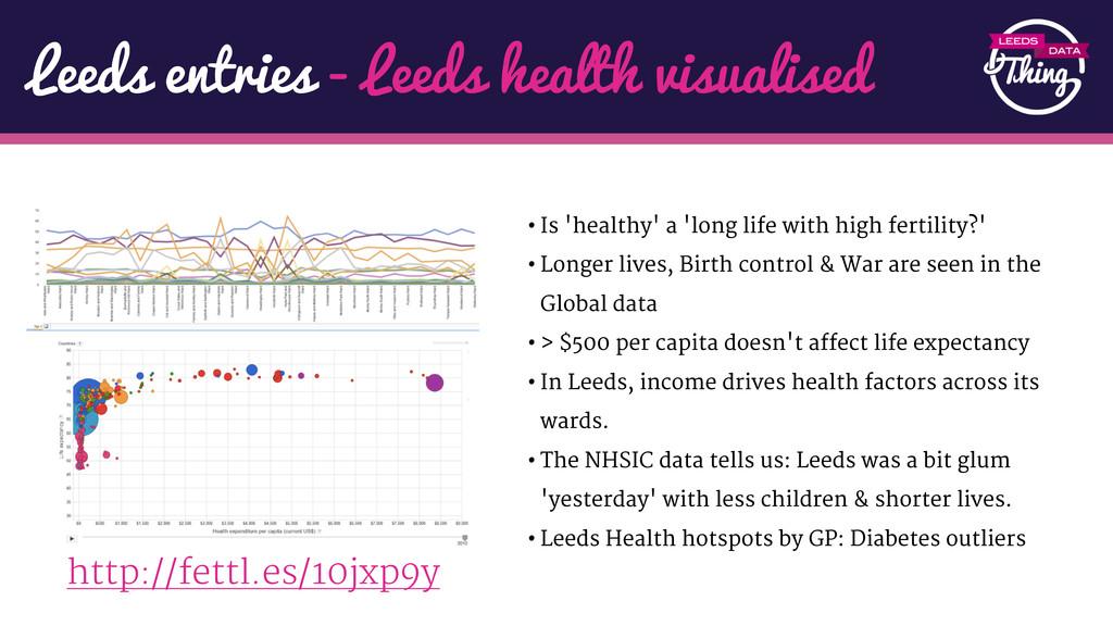 Leeds entries - Leeds health visualised http://...