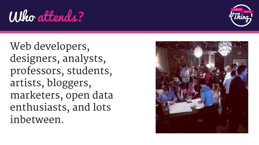 Web developers, designers, analysts, professors...