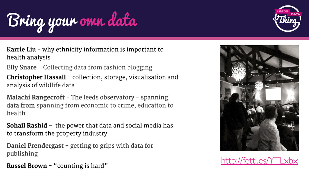 Bring your own data Karrie Liu - why ethnicity ...