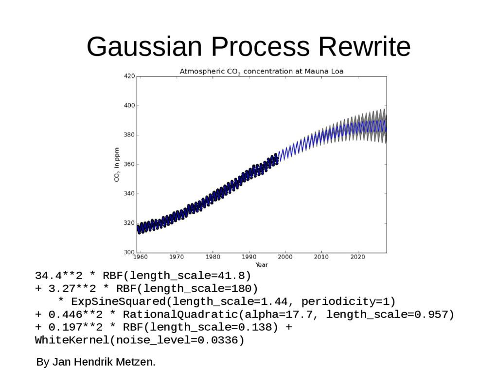 Gaussian Process Rewrite 34.4**2 * RBF(length_s...