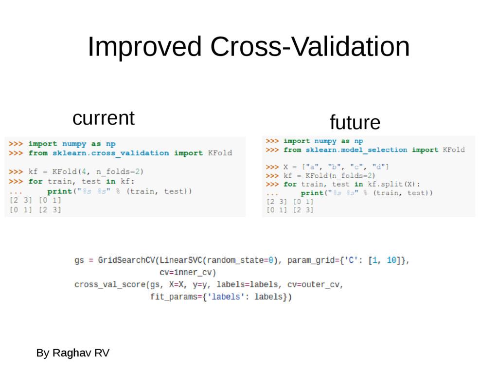 Improved Cross-Validation By Raghav RV current ...
